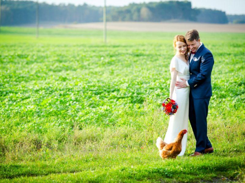 Hochzeit in einer Landhaus Scheune