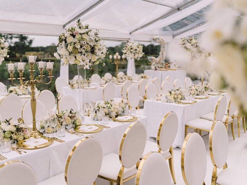 Hochzeit weiss gold